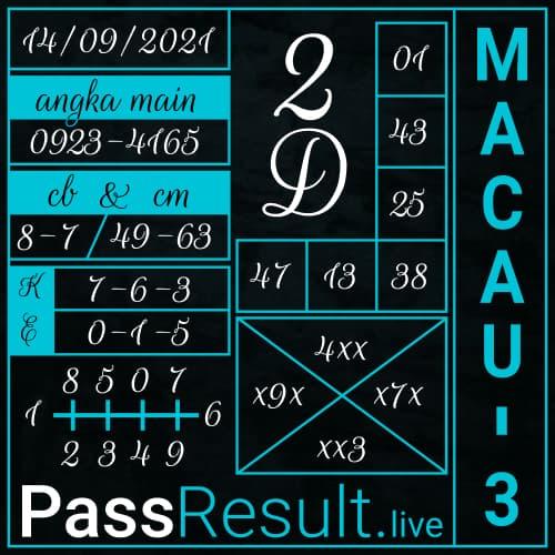 PassResult - Bocoran Togel Toto Macau 3 Hari ini