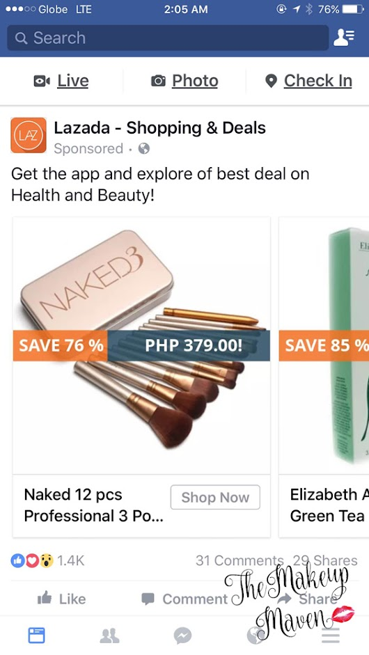 THE MAKEUP MAVEN - A BEAUTY BLOG BY SABS HERNANDEZ: My first online shopping experience with Lazada