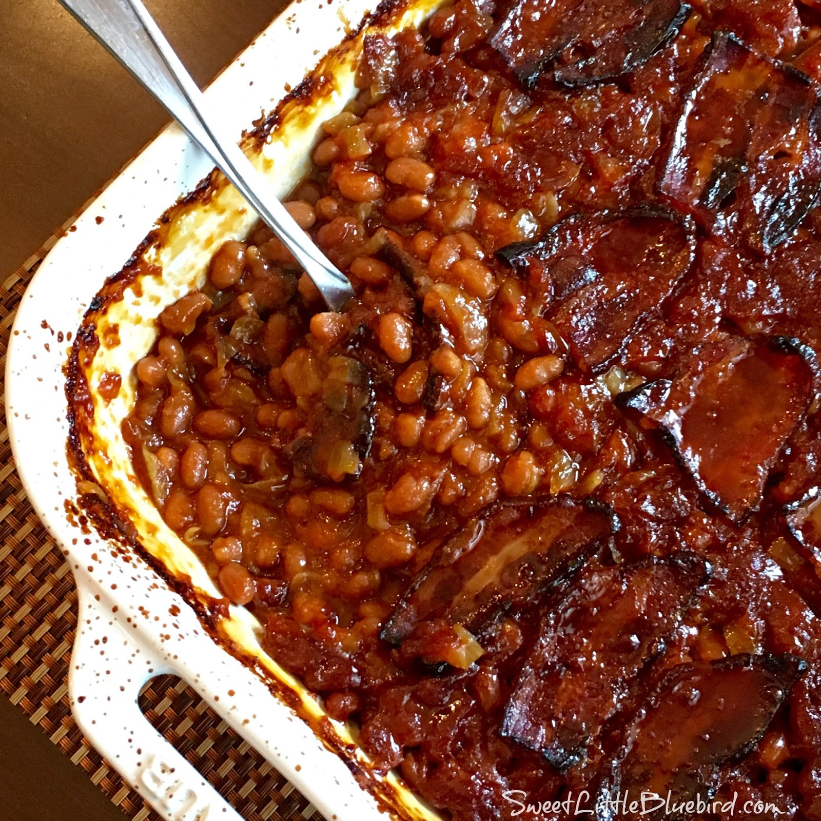 Anastasia's Best-Ever Baked Beans - Sweet Little Bluebird
