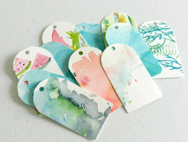 watercolor gift tags: grow creative blog