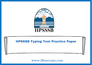 HPSSSB Typing Test Practice Paper