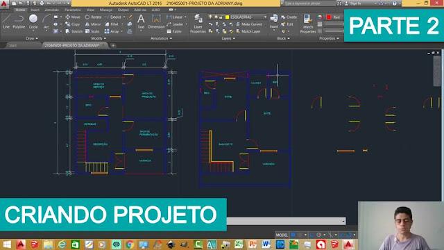 Criando um Projeto no AutoCad – Parte 2 #Vídeo