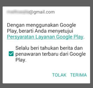 Autentikasi ulang google playstore