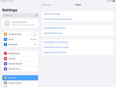 iPad Reset Image
