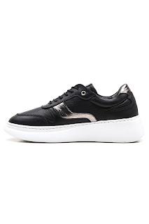 bayan siyah sneaker ayakkabı