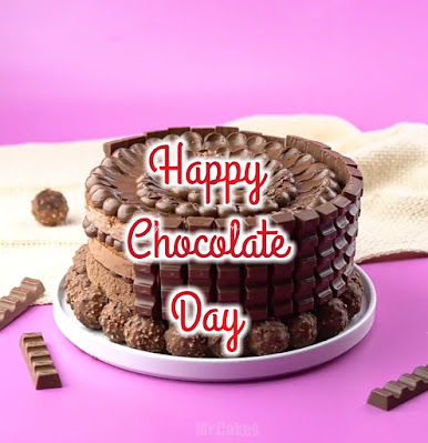 Chocolate Day cake wallpaper