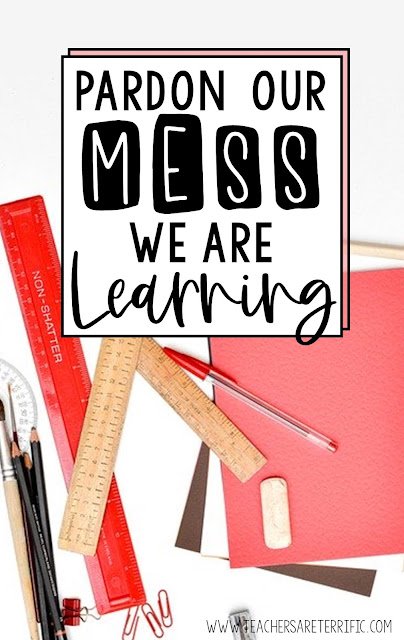 Blog Post all about the messes we make as we are learning! It's all good, though, because hands-on is the best way!