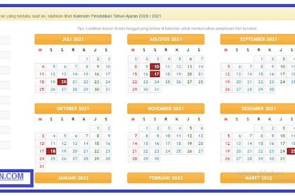 Download Kalender Pendidikan SD SMP SMA dan SMK 2021/2022. www.kemendikbud.com