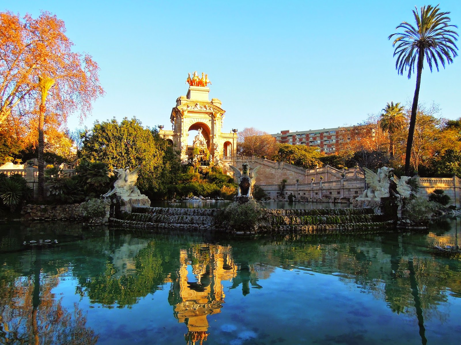 La Fontana monumentale dentro il Parc de la Ciutadella