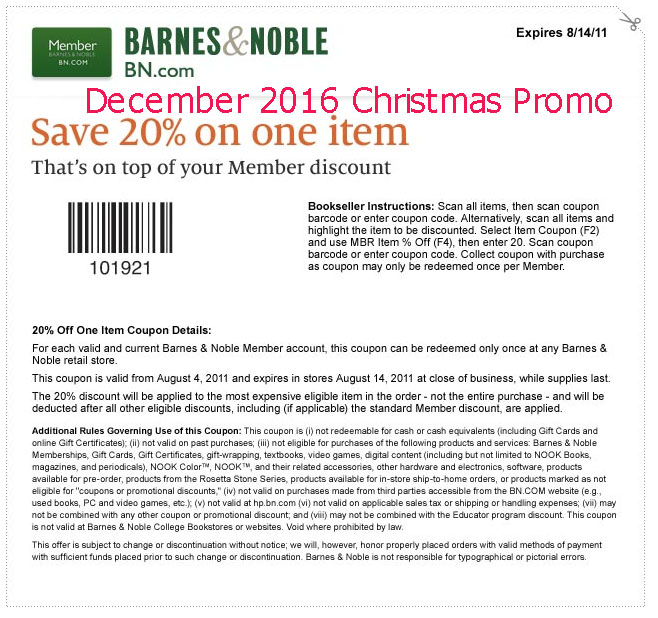 Barnes 7 noble coupons
