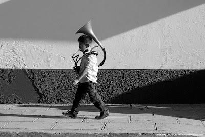 Niño músico de Oaxaca