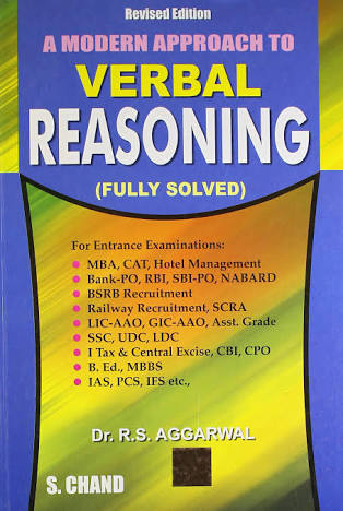 A MODERN APPROACH TO VERBAL REASONING  BY R.S AGGARWAL