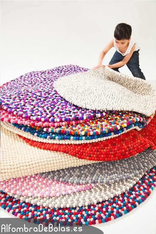 Deconi os rainbow decor con alfombras de bolas ministry - Alfombras redondas infantiles ...