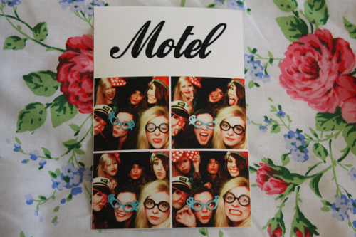 motel photobooth pictures with jessica from coppergarden, amy from amyvalentine, stacey from staceycraig, kirsti from silentsweetheart, and francesca from francescasophia
