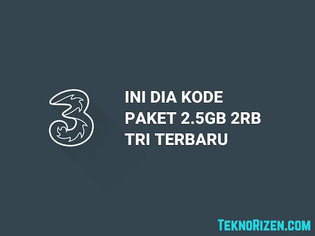 Kode Internet Murah 3 Tri 2.5GB Cuman Rp2000 Terbaru