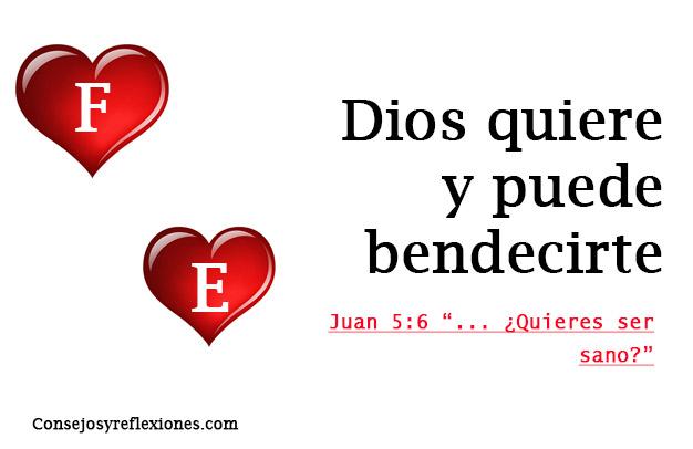 Dios todo lo puede y quiere bendecirte Juan 5:6