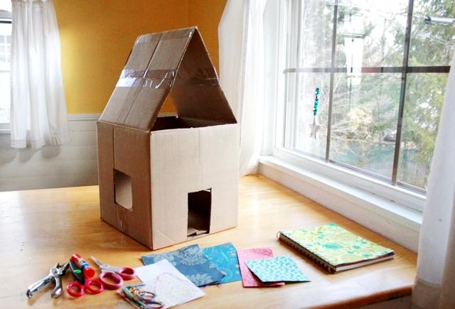 Reciclar Carton Haciendo Casita De Juegos O De Munecas Quiero