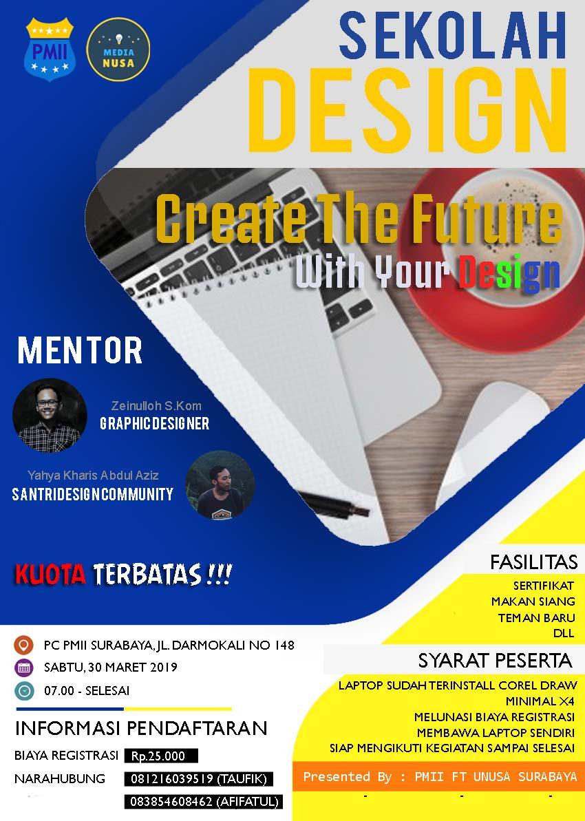 Contoh Poster Pamflet Pelatihan Desain Grafis - Mahasiswa ...