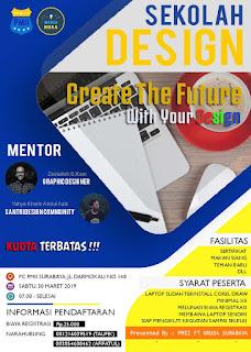 contoh pamflet workshop desain grafis 2019