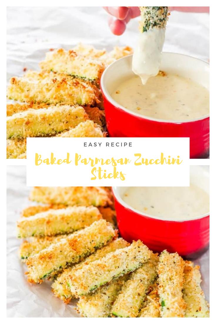 Baked Parmesan Zucchini Sticks #snacks #appetizer #easyrecipe #breakfast