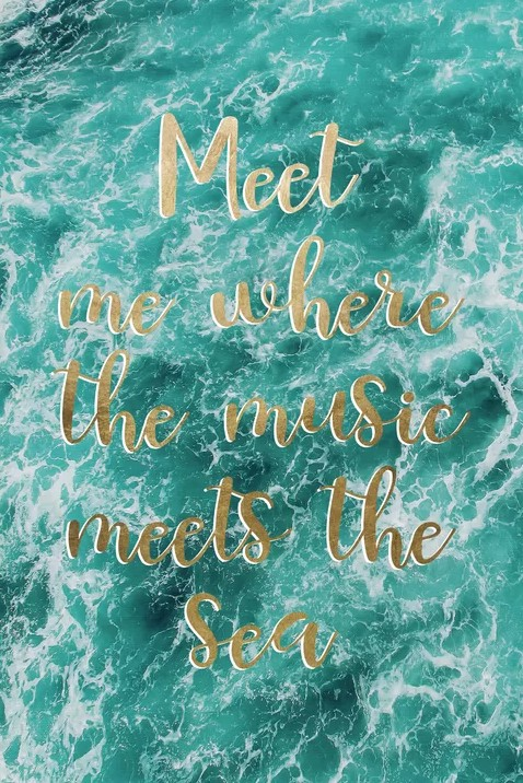 Turquoise Ocean Waters Photo Quote Print