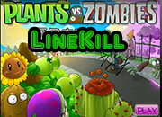 juego Plants Vs Zombies LineKill