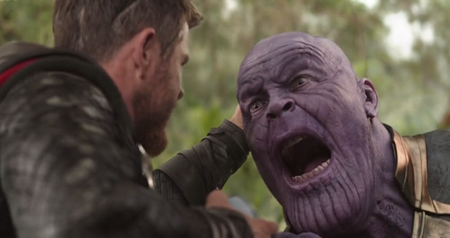 Scared Moments of Mad Titan Thanos in Marvel(Thor)