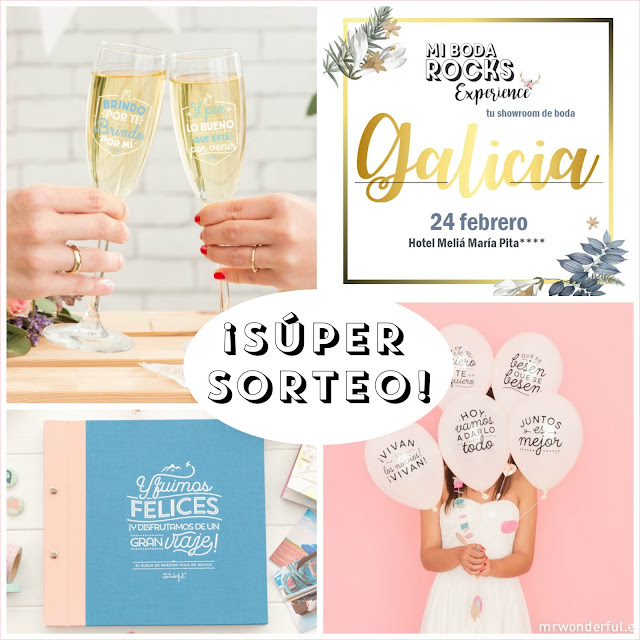 sorteo mr.wonderful mi boda rocks experience galicia 2019
