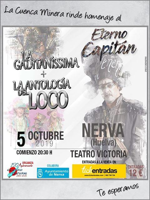 Nerva homenajeará a Juan Carlos Aragón con una actuación de 'La gaditaníssima'