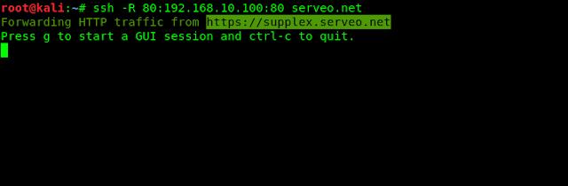 serveo.net tutorial