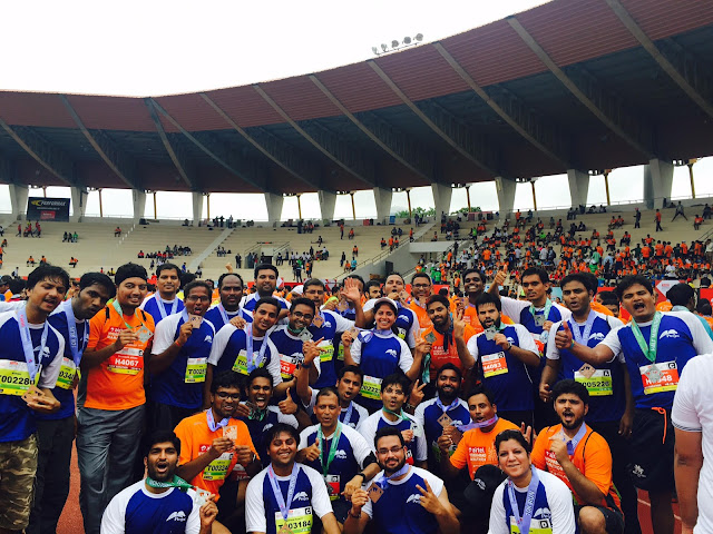 Pegasystems took part in the Airtel Hyderabad Marathon - Over 200 Employees
