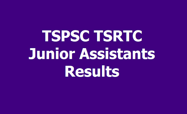 TSPSC TSRTC Junior Assistants Merit list Results 2019
