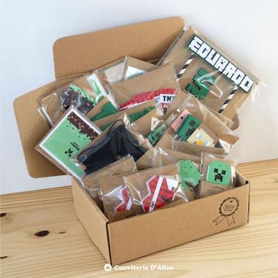 minecraft kit festa na caixa