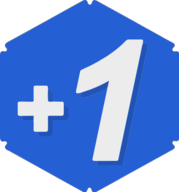 plusone hexagon icon
