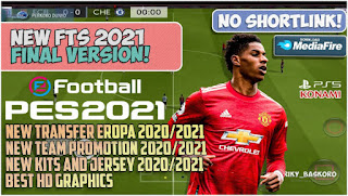Download FTS 2021 MOD PES 2021 Final Version Update Best Graphics New Kits & Full Liga Eropa