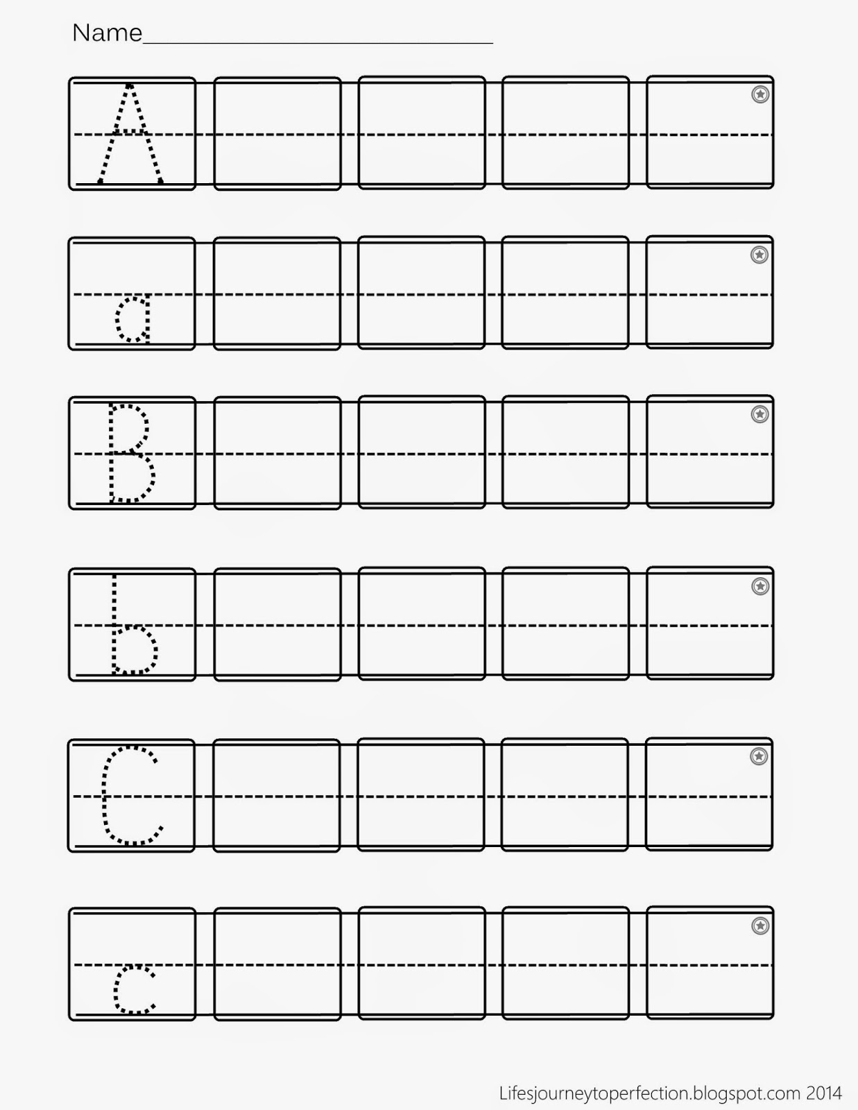 Abc Writing Worksheets For Preschool fallcreekonlineorg – Writing Abc Worksheets