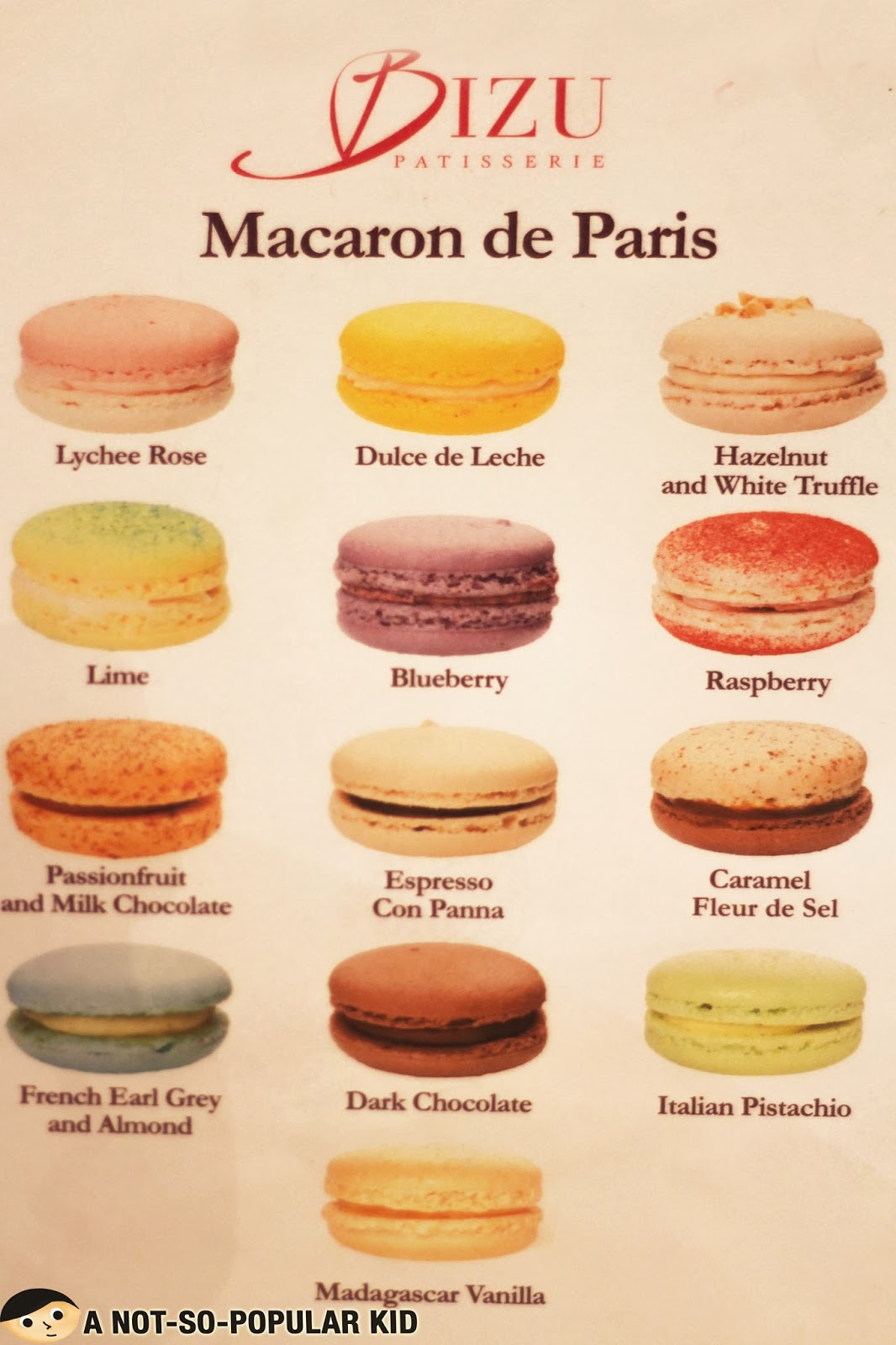 Cafe Patisserie Menu