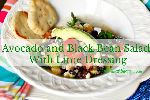 Avocado Black Bean Salad With Lime Dressing At Home With Jemma