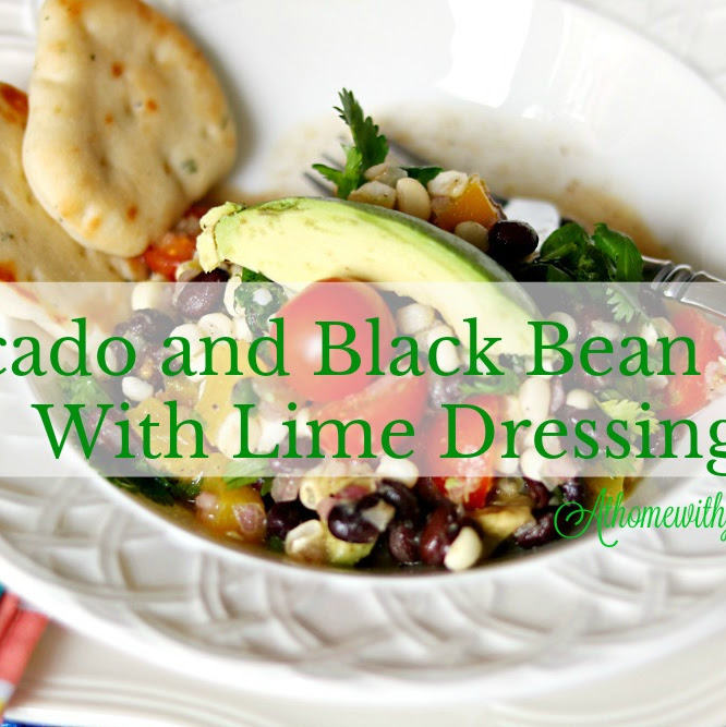 Avocado Black Bean Salad With Lime Dressing