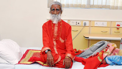 "Prahlad Jani, 83-year old Indian ""breatharian""  – a person who lives onprana, or the Hindu spiritual life force alone"