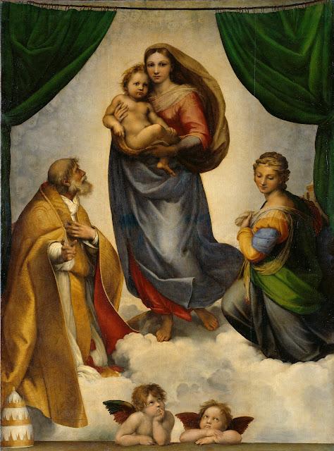 T01296 - Madonna Sistina, Raffaello Sanzio - Arte&Design