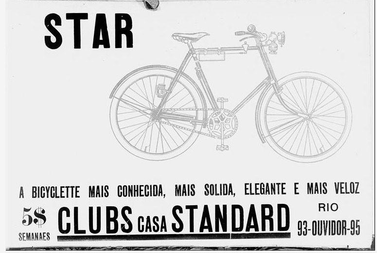 Propaganda antiga da Bicicleta Star veiculada em 1914