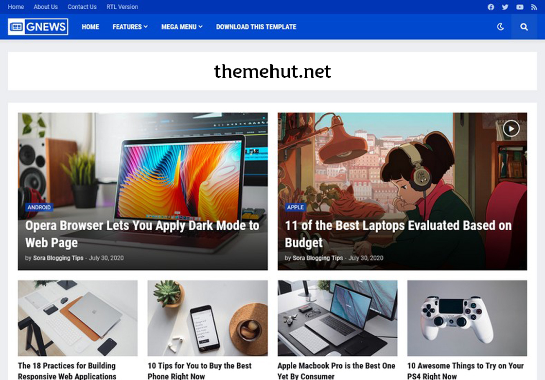 GNews Premium Blogger Template Free Download