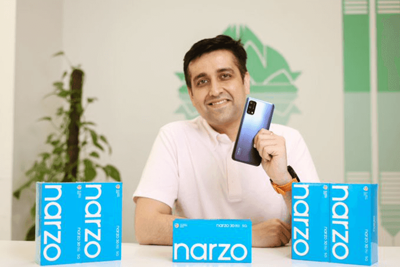 realme CEO Madhav Sheth showcases narzo 30 series ahead of launch