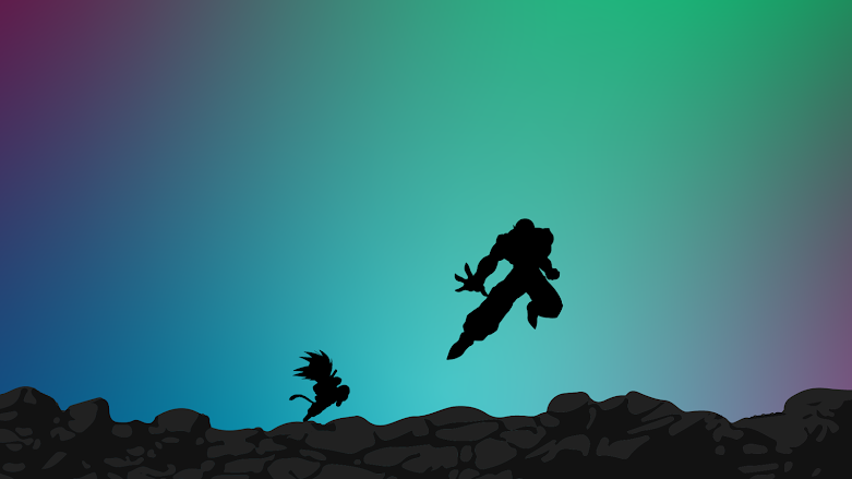 kid-goku-versus-piccolo-wallpaper-minimalist