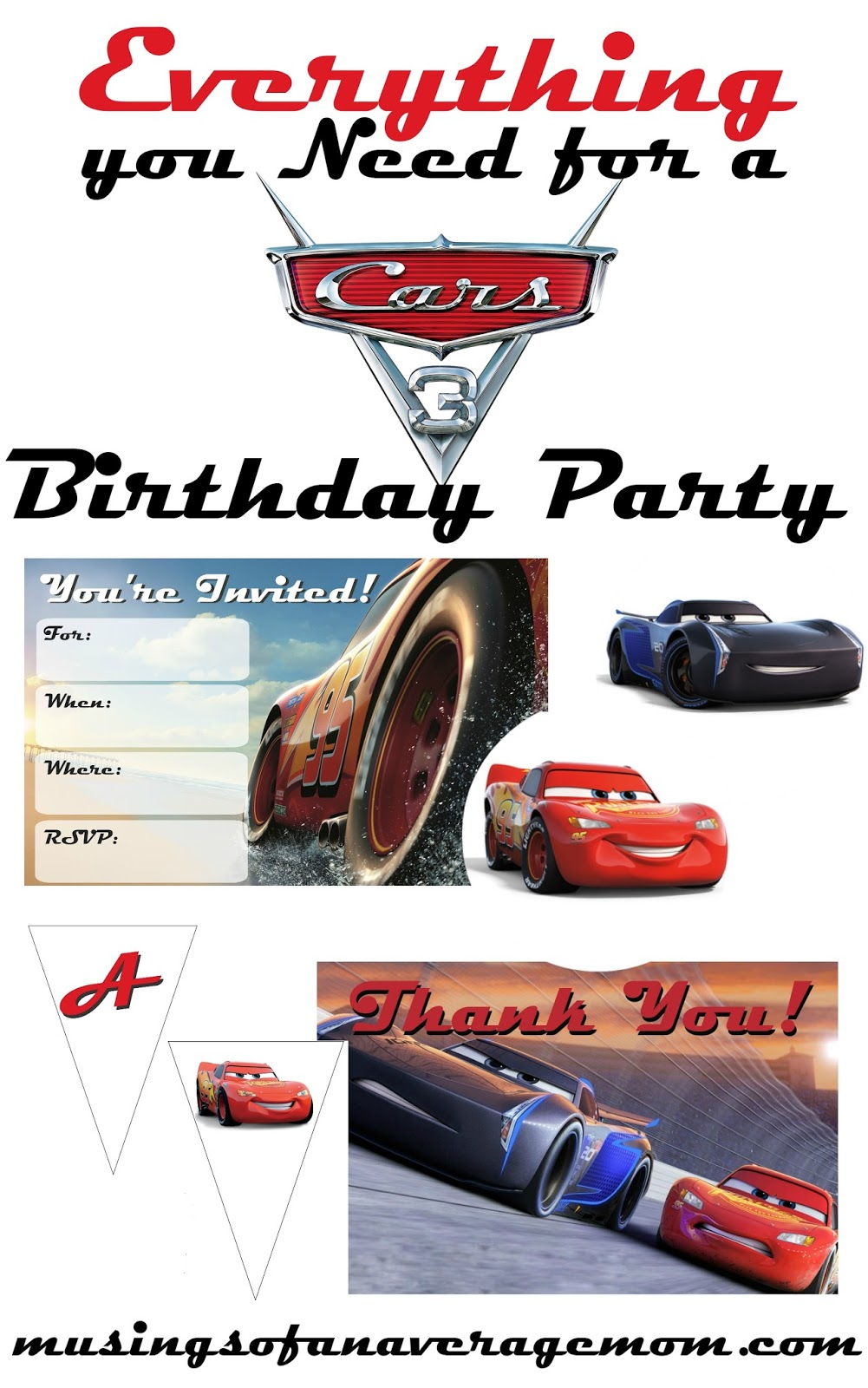 Musings Of An Average Mom Cars 3 Party