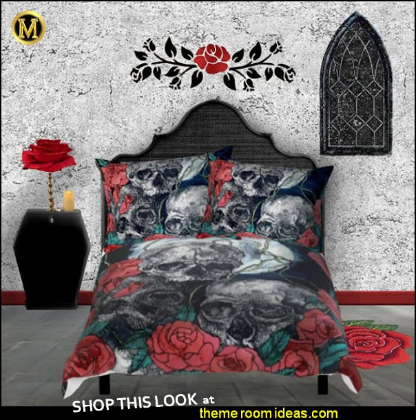 skulls roses bedrooms skulls roses bedding gothic skulls decorating