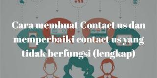 Cara membuat Contact us dan memperbaiki contact us yang tidak berfungsi (lengkap)