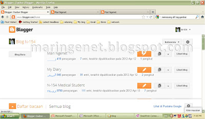 Tampilan Baru Blogger, dashboard, new look blogger