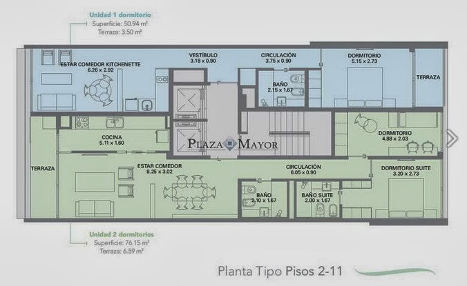 Planta Tipo Edificio Acqualina